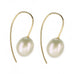 "Cream Freshwater Pearl Earrings on ""Minimalist"" Ear Wire"