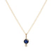 10K Gold Blue Sapphire and Diamond Charm