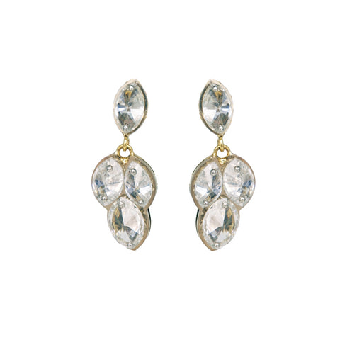 Inverted Marquise Diamond Earrings