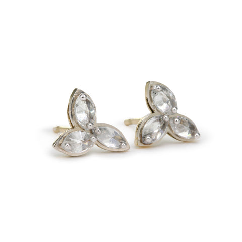 TAP by Todd Pownell Inverted Triple Marquise Diamond Earrings