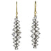 Oxidized Prong-Set Inverted Diamond Cluster Drop Earrings (3.40 tcw)