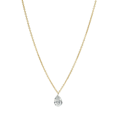 TAP by Todd Pownell Gold Necklace with Free Set Pear-Shaped Diamond Drop