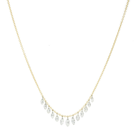 "TAP by Todd Pownell Marquise Diamond ""Fringe"" Necklace on Gold Chain"