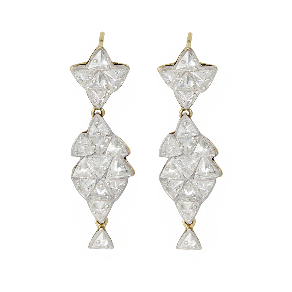 17 Inverted Trillion Diamond Earrings