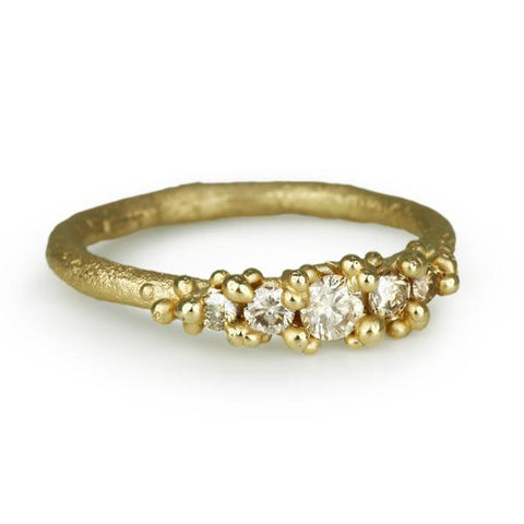 Five Champagne Diamond Ring