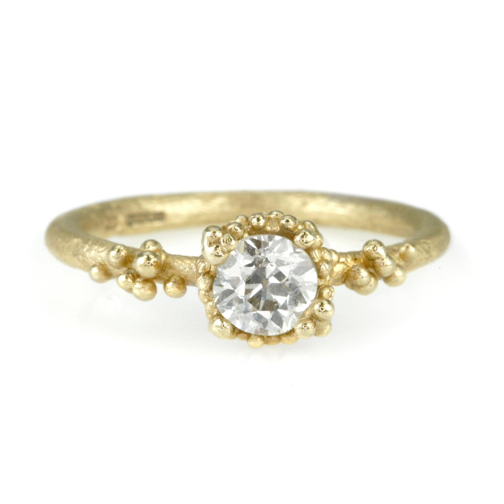 Gold One Of A Kind Diamond Solitaire Ring