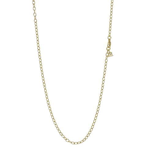 Gold Extra Small Oval Chain in 32""