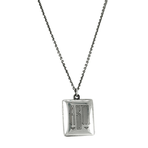 "Sterling Silver ""Arcelia"" Locket Necklace"