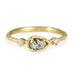 Gold Grey Pear Shaped Diamond Ring