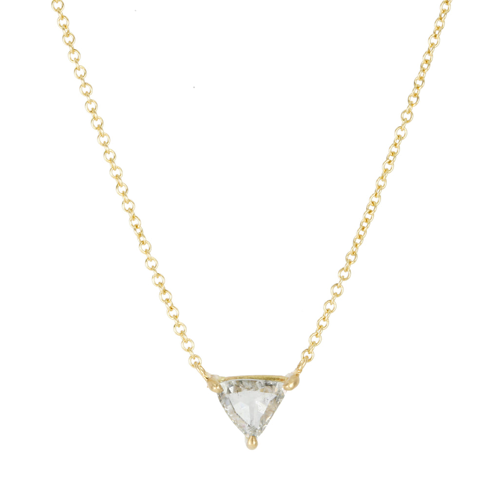 Gold and Trillion Grey Diamond Necklace