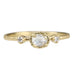 Yasuko Azuma Gold and Oval Colorless Diamond Ring