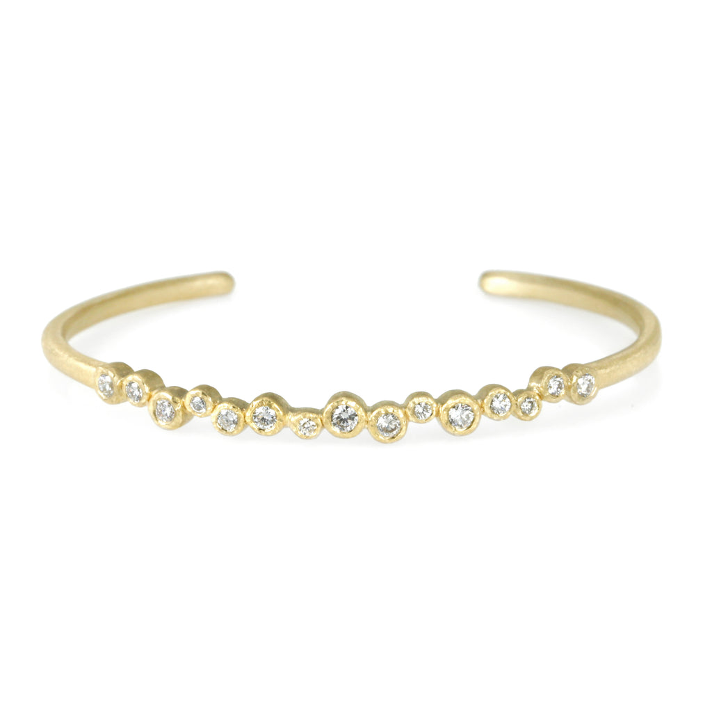 Diamond and Gold Cuff Bracelet