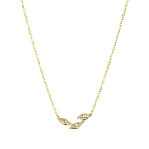 Three Leaf Diamond Necklace