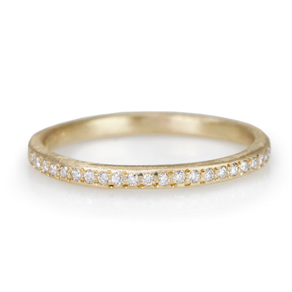 Yasuko Azuma Gold and Pave Diamond Halfway Eternity Band