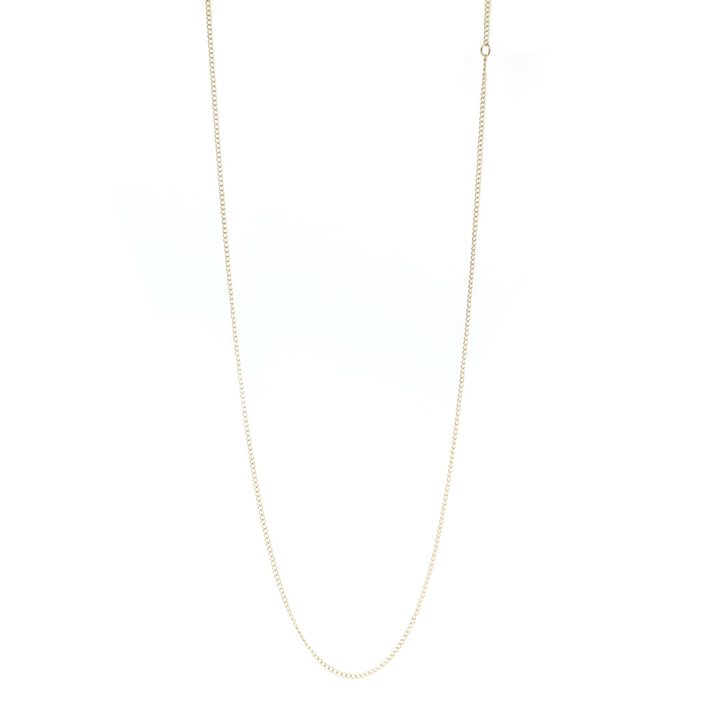 "10 Karat Yellow Gold 24"" ""Curb"" Chain"