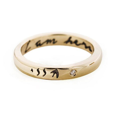 "10K Gold ""I Am Here"" Band"