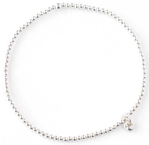 "Silver ""Stretchy"" Ball Chain Bracelet"