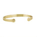 Caroline Ellen Gold Inverted Cuff Bracelet with Cognac Diamonds
