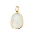 Organic Rectangular Rainbow Moonstone Pendant