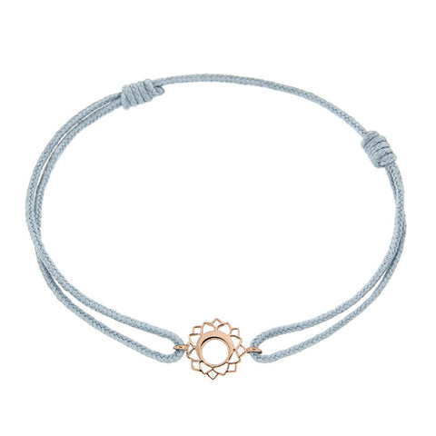 Rose Gold Mini Vishuddha/Communication Chakra Bracelet