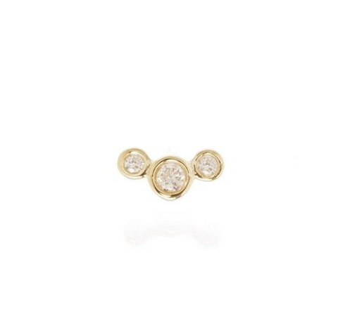 Zoe Chicco Gold and Diamond Cluster Post Earring