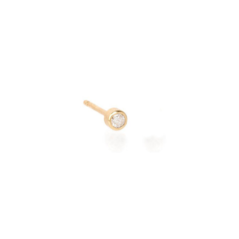 Gold and Diamond Post Earring