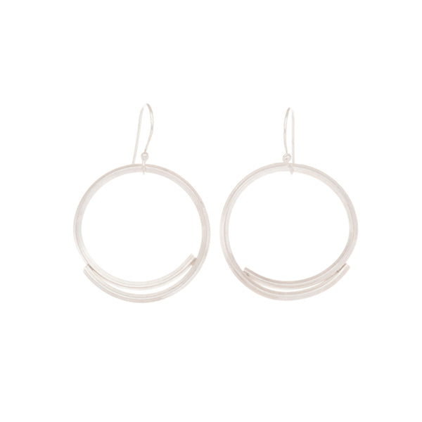 "Sterling Silver Small ""Stick Circle"" Earrings"