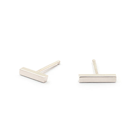 "Sterling Silver ""Short Stick"" Earrings"