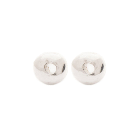 "Silver ""Single Dot"" Earrings"
