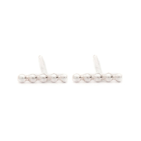 "Sterling Silver ""Polka Dot"" Stud Earrings"