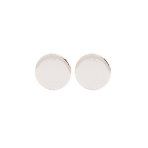 "Johanna Brierley Sterling Silver ""Flat Dot"" Earrings"
