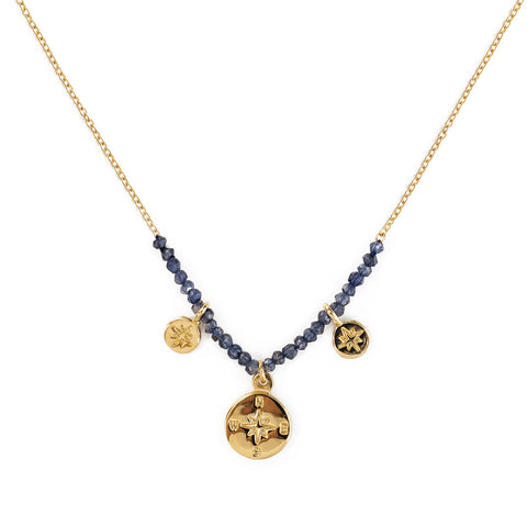 "The Brave Collection Iolite ""Compass"" Necklace"