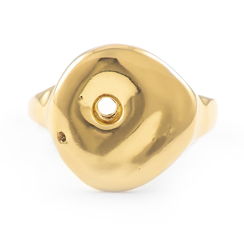 "Gold ""Echo"" Lucky Stone Ring"