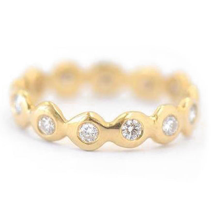 "Gold ""Dot Around"" Diamond Band"
