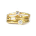 Gold and Baguette Diamond Stacking Ring