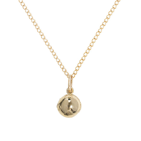 "10K Gold Mini Atlas Necklace on 18"" Chain"