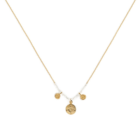 "Moonstone ""Compass"" Necklace"