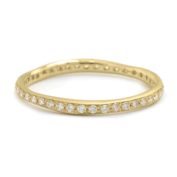 "Gold and Pave Diamond ""Wonky"" Ring"