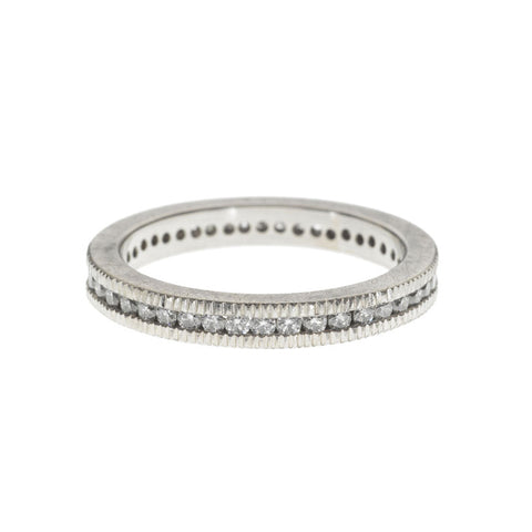 Palladium and Channel Set Diamond Ring