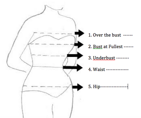 CUSTOM made corset size requirement