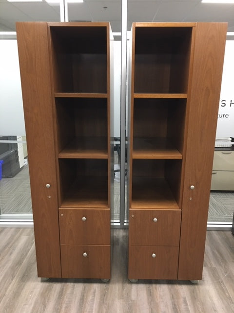 WALNUT WOOD STORAGE COMBO TOWERS
