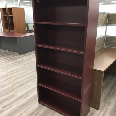 5 HIGH DARK CHERRY BOOKCASE