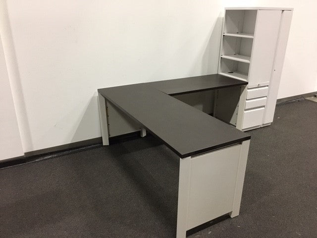 ALLSTEEL L SHAPE DESK