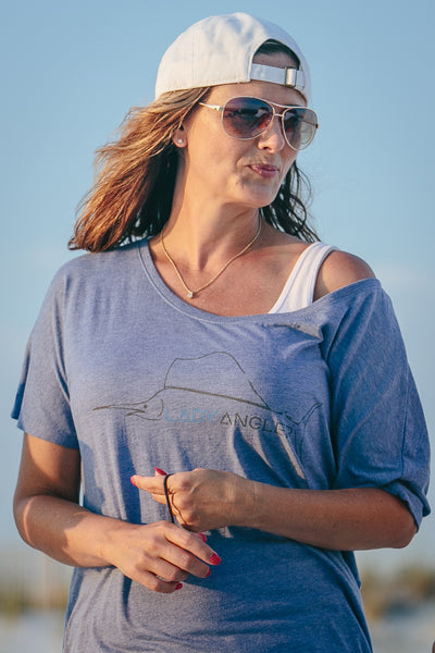 Sailfish Slouchy SS Tee - Lady Angler Co
