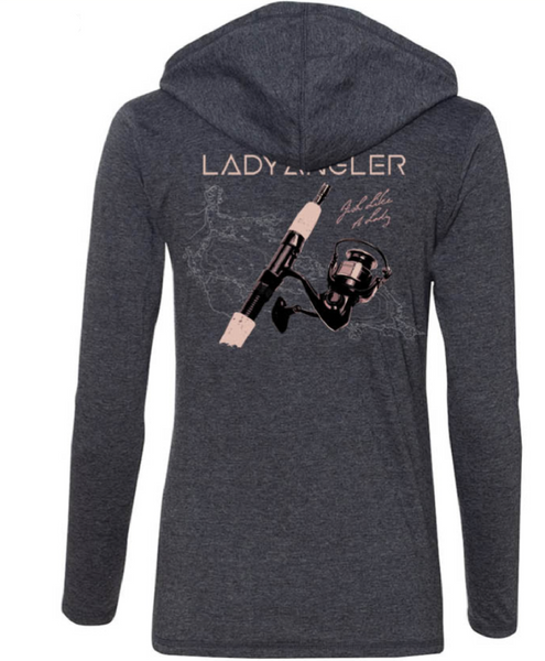 Spinning Reel Lightweight LS Hoodie - Lady Angler Co