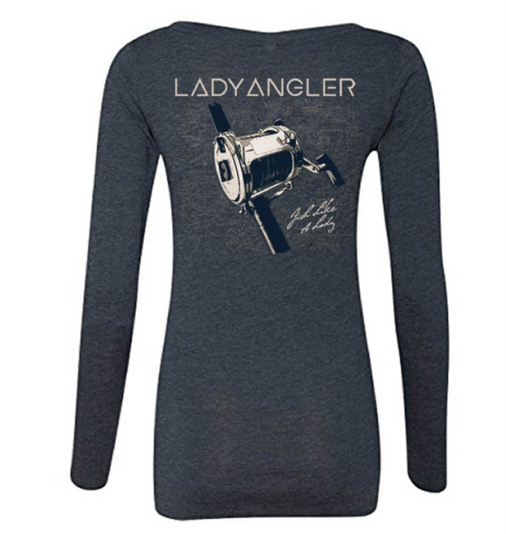 Bait caster Tri-blend LS Scoop Tee - Lady Angler Co