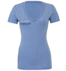 Tuna Tri-blend SS Deep V-Neck Tee - Blue