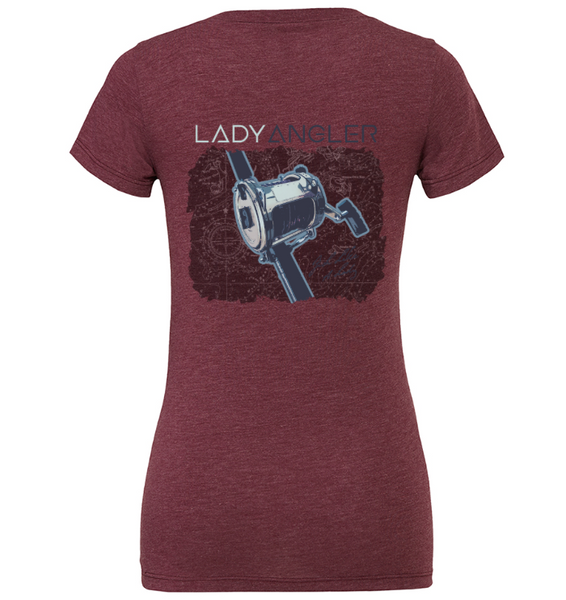 Baitcaster Tri-blend SS Tee - Lady Angler Co