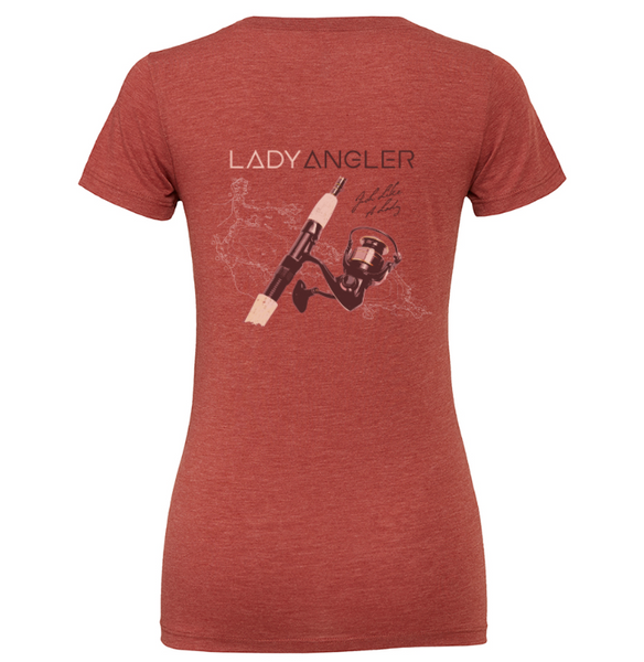 Spinning Reel Tri-blend SS Tee - Lady Angler Co