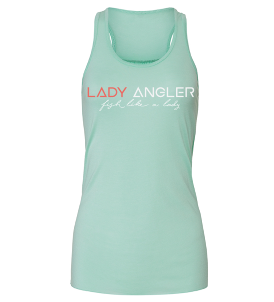 Signature Lady Angler Flowy Racerback Tank - Mint
